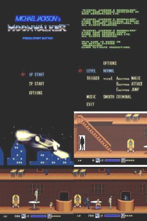 Modo para 2 jogadores. No cenário, escada com corrimão, e melhores detalhes dos objetos.