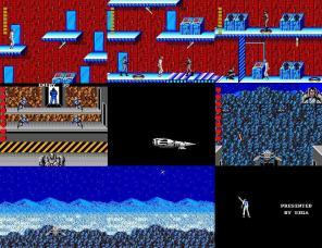 A cor vermelha incrementa as paredes do último estágio. Em MJ robô, um estilo tiro-ao-alvo é revelado. E no confronto final, derrube os canhões para completar o jogo.