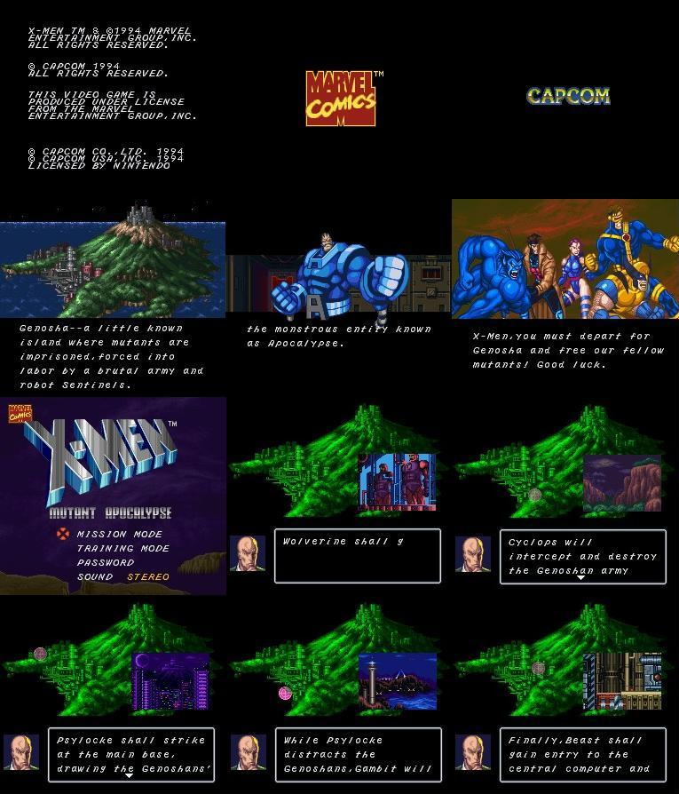 Um dos melhores jogos da série Marvel que apareceu no Super Nes.