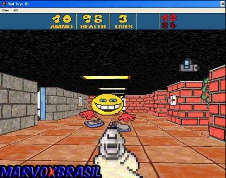 O primeiro inimigo que topamos é este Pac-Man revoltado.