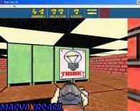 """Em muitos corredores os programadores espalharam cartazes com a palavra """"think"""" (pense, em português) colados em armários, paredes e na maioria das vezes existe uma passagem secreta nos arredores. Muito intuitivo!"""