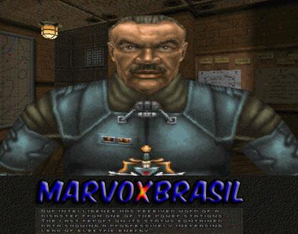 Essa é a capa do jogo. Chasm The Rift, uma criação alemã, criada com a mesma engine de Quake, em 1997.