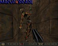 Os cenários mostram também um clima de violência com inimigos pendurados pelo tórax. Crueldade máxima em uma época em que games não tinham classificação etária, ainda.