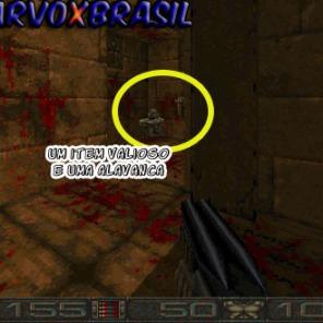 Em Chasm armadilha é o que não falta. Como vemos na foto. Vemos uma câmara com sangue no chão e parede. Lá no fundo um item muito valioso, uma armadura para dar 200% ao jogador. Se o jogador não pegar rapidamente dois pilares de espetos aparecem para esmagar.