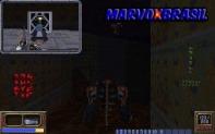 A imagem em cima é o jogador e embaixo é a tela em outro setor do level. Muito engenhoso.