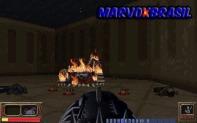 E o fim trágico do robô sendo corroído pelo fogo.