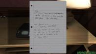Recados escritos em folha de caderno, os textos são muito engraçados.