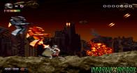 """Jogo extremamente cataclísmico com tema pós apocalíptico. O personagem uma espécie de """"Doomguy"""" com uma minigun à laser e que precisa eliminar uma horda de seres espaciais que tentam a todo custo apoderar-se do planeta. É possível aumentar o poder de tiro através de vários itens que brotam após a queda dos inimigos. O jogo foi criado com o visual renderizado todo inspirado em Donkey Kong Country. E foi lançado em novembro de 1995, mesmo mês em que o Super NES recebia Donkey Kong Country 2. Apesar de R² ter ficado restrito no Japão, o jogo é uma relíquia valiosíssima e foram manufaturados apenas 5 mil cartuchos."""