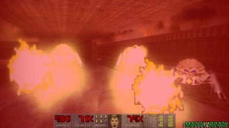 As Arachnotrons são mais perigosas quando estão em grupo. Dos seus mini canhões saem projéteis de plasma.