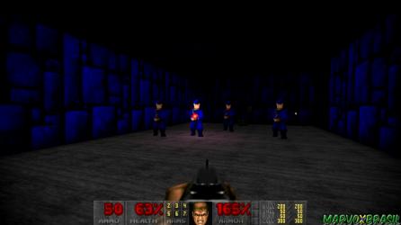 A homenagem para Wolfenstein 3D trouxe os soldados SS Nazis para o universo de Doom 2.