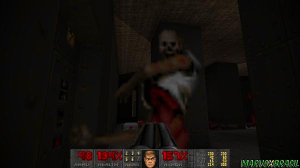 Doom 2 consegue ter uma linha de inimigos que causam impactos extremos. O primeiro deles é o Revenant que consegue atirar mísseis teleguiados que saem das próprias costas.