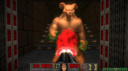 Diferente do Baron of Hell, o Hell Knight é a versão mais fraca, porém os estragos são na mesma intensidade.