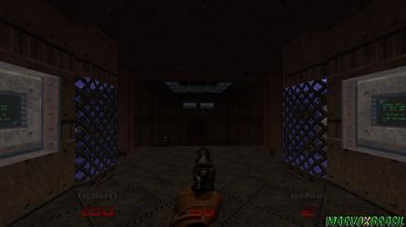 O desembarque em Doom 64, e pela primeira vez não vemos mais o rosto do Marine.