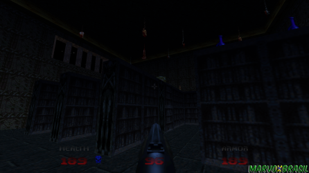 Ao invés de músicas, temos um trabalho com efeitos de som e ambiente, essa ideia foi mantida e pode-se ver a mesma situação em Doom 3.