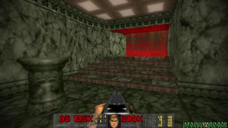 A escadaria que leva até a base secreta do Episódio 2.