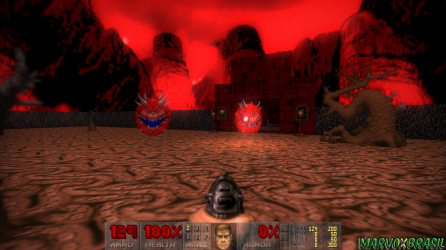 O início do Episódio 3 coloca o jogador para eliminar no revólver dois CacoDemons.