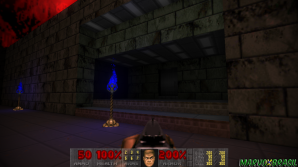 Degraus em Doom no início da fase...