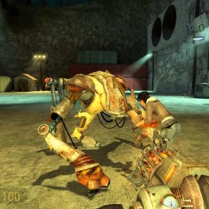 Por outro lado os Combines nunca terão uma arma anti-gravitacional e uma amiga como a Alyx que é dona de um robô chamado Dog.