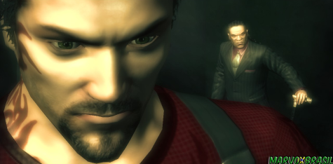 Lennox e ao fundo, Lucius Black, o diabo da história.