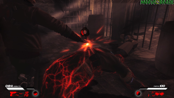 Absorva os corpos dos inimigos para recuperar energia e mana.