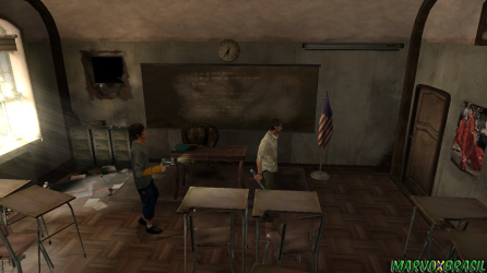 Explore cada canto da escola à procura de armas, munições e demais objetos.