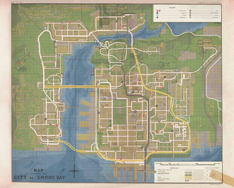 Mafia II Empire Bay Mapa
