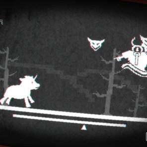 Fases em 2D com inimigos que chegam voando na sua direção.
