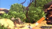 Aponte a canetinha laranja no chão e faça subir uma plataforma da altura que você quiser.