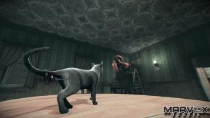 Uma das habilidade mais legais é a Possessão, capaz de colocar o jogador na pele do felino aí em cima da mesa. Nesta hora os Demons nem sequer oferecem perigo. Gatos são úteis para atravessar dutos de ventilação e escalar muros e alcançar segredos.