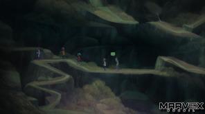 Os 5 integrantes de Oxenfree fazem uma caminhada e a aventura acontece de forma natural sem pausas para cutscenes.